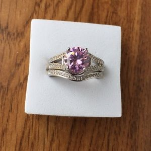Stamped925(sterling silver)1.5 CARAT Pink sapphire